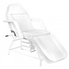 Fotel kosmetyczny 557a z kuwetami biały