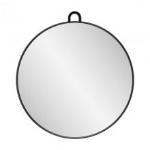 Lusterko fryzjerskie okrągłe q-29 czarne
